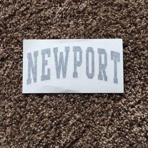 large brandy melville newport sticker